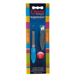 Credo Pop Art Nail Clipper and File in Blue
