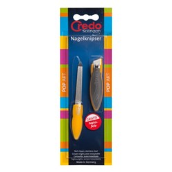 Credo Pop Art Nail Clipper and File in Yellow
