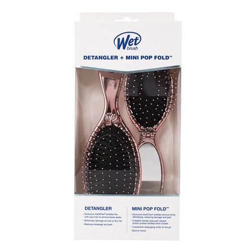 WetBrush Detangler and Mini Pop Fold Set Rose Gold