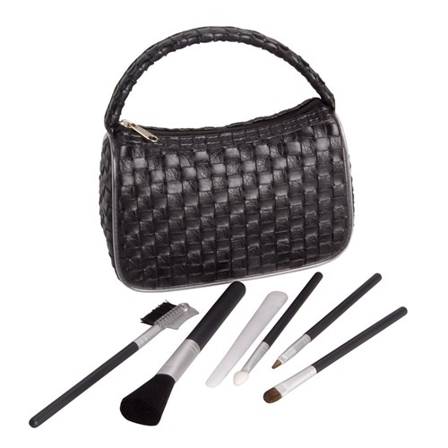 Make Me Up Black Weave Cosmetic Brush Set, 6pc