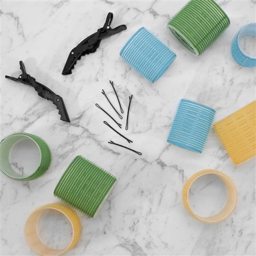 Hair FX Self Gripping 53mm Velcro Rollers, 6pk