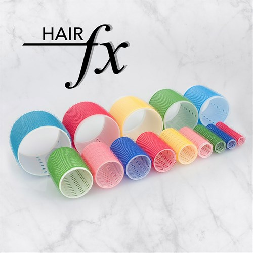 Hair FX Self Gripping 76mm Velcro Rollers, 6pk
