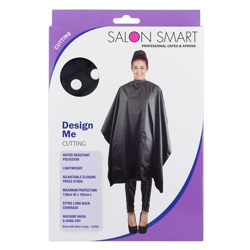 Salon Smart Design Me Black Cutting Hairdressing Cape