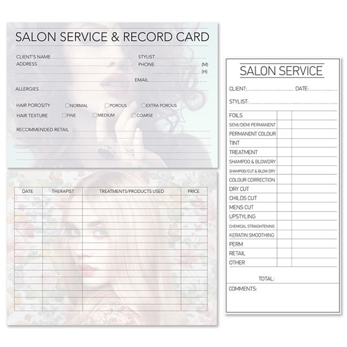 Dateline Professional Beauty Therapy Record Cards