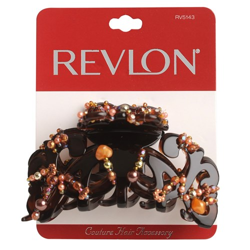 Revlon Brown Jewelled Claw Clip
