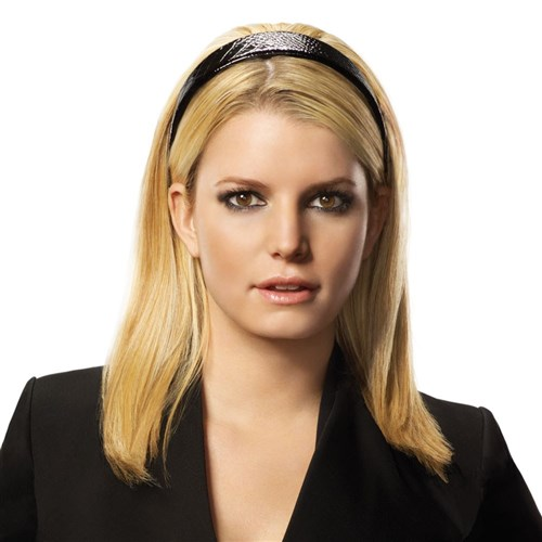 Jessica Simpson hairdo Tru2Life Mid-Length Headband Extension