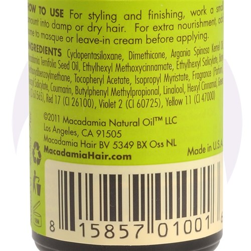 Macadamia Natural Oil Luxurious Oil Treatment, 30mL