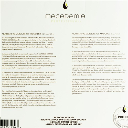 Macadamia Professional Nourishing Hair Oil and Masque Pack