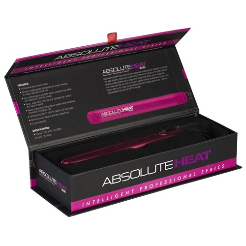 AbsoluteHeat IPS Mini Hair Straightener in Pink