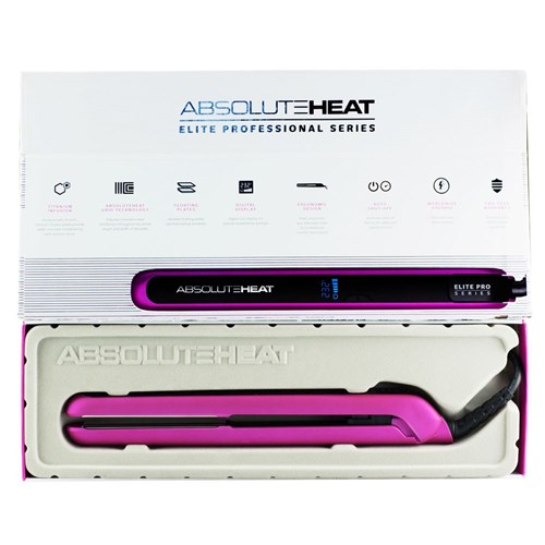 AbsoluteHeat EPS 25mm Titanium Hair Straightener Pink