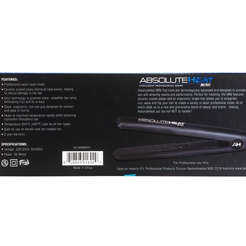 AbsoluteHeat IPS Mini Hair Straightener Black