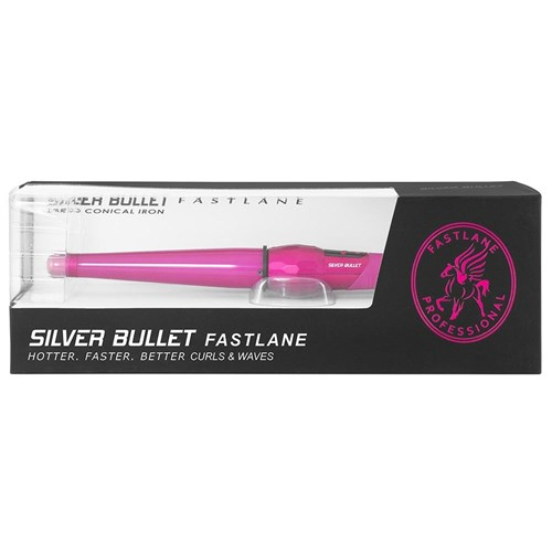 Silver Bullet Fastlane Large Ceramic Conical Curling Iron in Pink