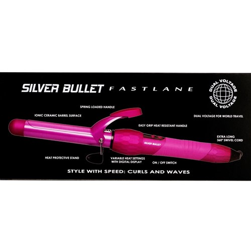 Silver Bullet Fastlane Pink Ceramic 25mm Curling Iron