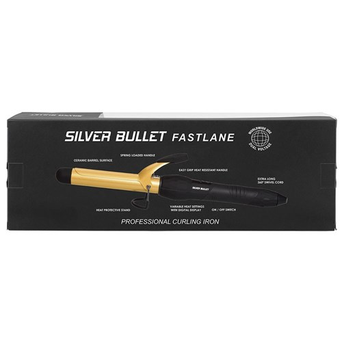 Silver Bullet Fastlane Gold Ceramic 25mm Curling Iron