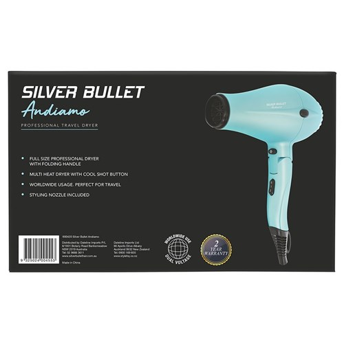 Silver Bullet Andiamo Foldable Travel Hair Dryer