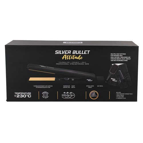 Silver Bullet Attitude Hair Straightener Black