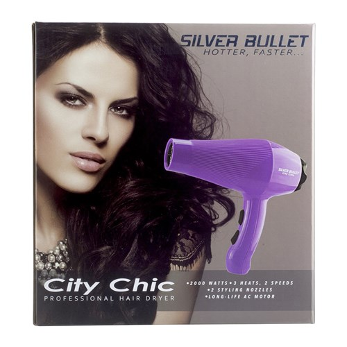Silver Bullet City Chic Hair Dryer Violet