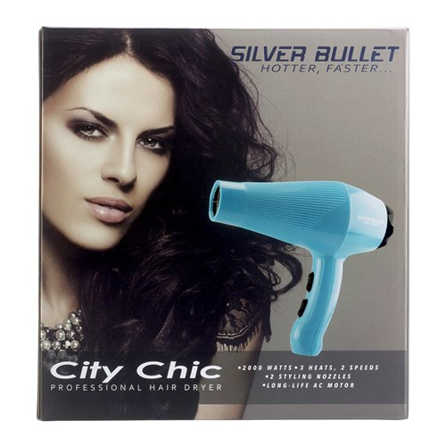 Silver Bullet City Chic Hair Dryer Aqua