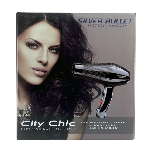 Silver Bullet City Chic Hair Dryer Black