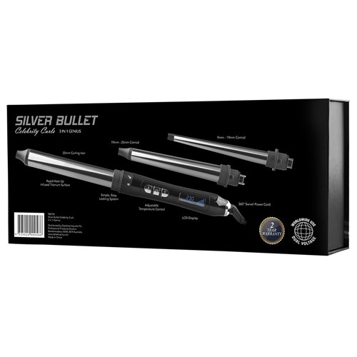 Silver Bullet Celebrity Curls 3 in 1 Genius Curling Iron