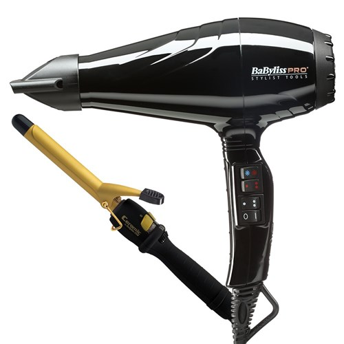 BaBylissPRO Attitude Hair Dryer and Curling Iron 19mm