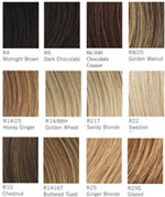 Jessica Simpson Hair Colour Charts